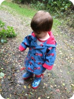 Muddy puddles, wellies and raincoats